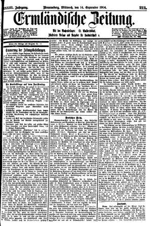 Ermländische Zeitung vom 14.09.1904