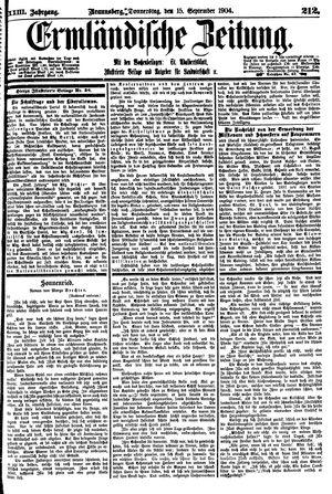 Ermländische Zeitung vom 15.09.1904