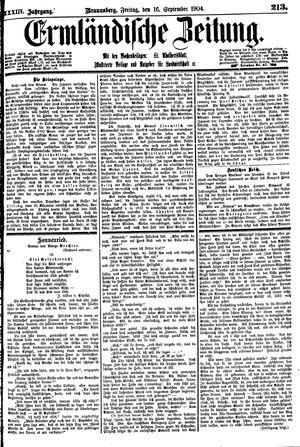 Ermländische Zeitung vom 16.09.1904