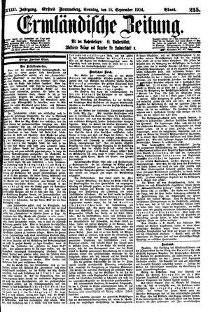 Ermländische Zeitung vom 18.09.1904