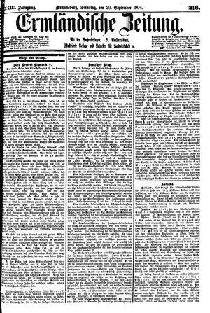 Ermländische Zeitung vom 20.09.1904