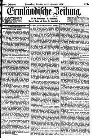 Ermländische Zeitung vom 21.09.1904
