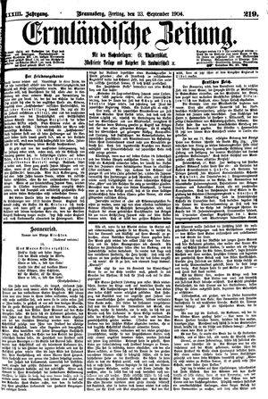 Ermländische Zeitung vom 23.09.1904