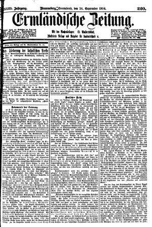 Ermländische Zeitung vom 24.09.1904