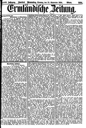 Ermländische Zeitung vom 25.09.1904