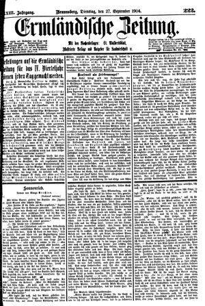 Ermländische Zeitung vom 27.09.1904