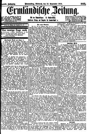 Ermländische Zeitung vom 28.09.1904