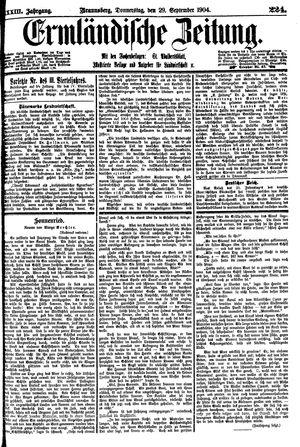 Ermländische Zeitung on Sep 29, 1904