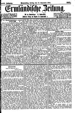 Ermländische Zeitung vom 30.09.1904