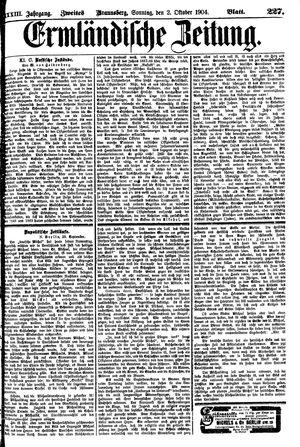 Ermländische Zeitung on Oct 2, 1904
