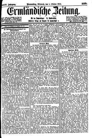 Ermländische Zeitung vom 05.10.1904