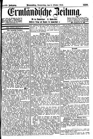 Ermländische Zeitung vom 06.10.1904