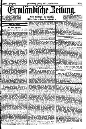 Ermländische Zeitung vom 07.10.1904