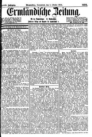 Ermländische Zeitung vom 08.10.1904