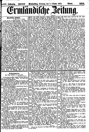 Ermländische Zeitung vom 09.10.1904