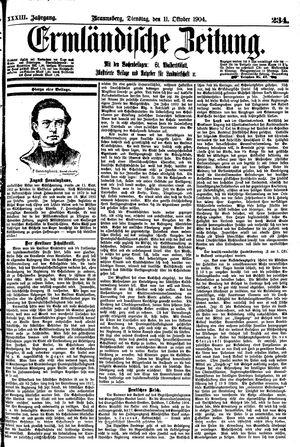 Ermländische Zeitung vom 11.10.1904