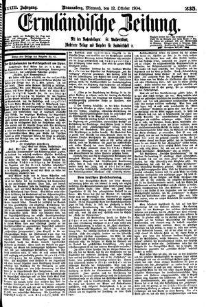 Ermländische Zeitung vom 12.10.1904