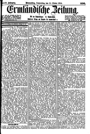 Ermländische Zeitung vom 13.10.1904