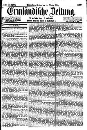 Ermländische Zeitung vom 14.10.1904
