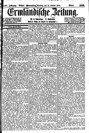 Ermländische Zeitung vom 16.10.1904