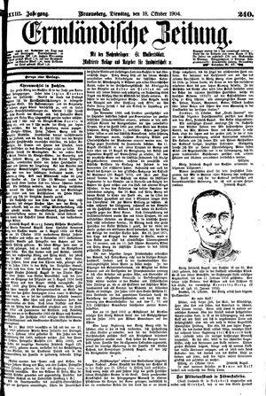Ermländische Zeitung vom 18.10.1904