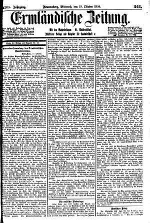 Ermländische Zeitung vom 19.10.1904