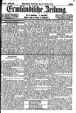 Ermländische Zeitung vom 20.10.1904