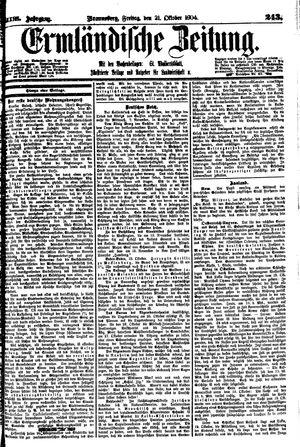 Ermländische Zeitung vom 21.10.1904