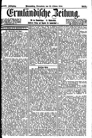Ermländische Zeitung vom 22.10.1904