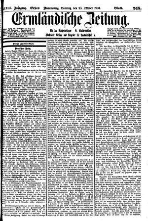 Ermländische Zeitung vom 23.10.1904