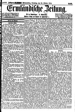 Ermländische Zeitung vom 25.10.1904