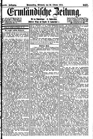 Ermländische Zeitung vom 26.10.1904