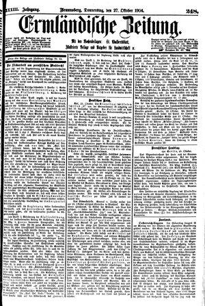 Ermländische Zeitung vom 27.10.1904