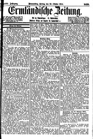 Ermländische Zeitung vom 28.10.1904