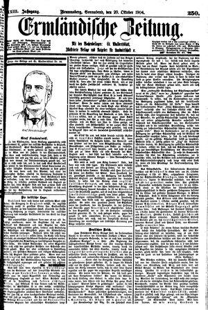 Ermländische Zeitung vom 29.10.1904