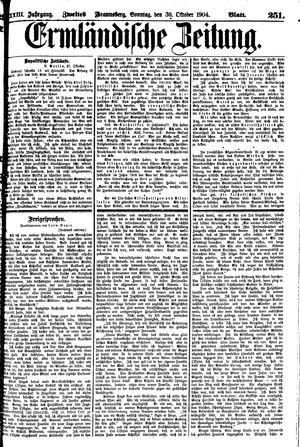 Ermländische Zeitung vom 30.10.1904