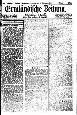 Ermländische Zeitung vom 01.11.1904