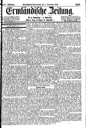 Ermländische Zeitung on Nov 3, 1904