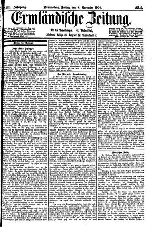 Ermländische Zeitung vom 04.11.1904