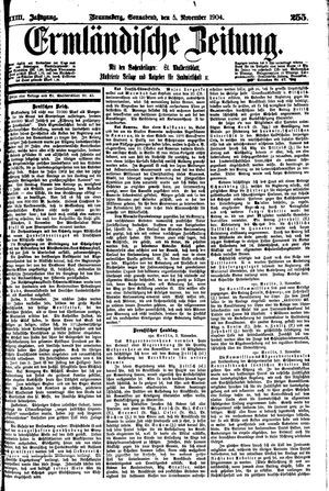 Ermländische Zeitung vom 05.11.1904