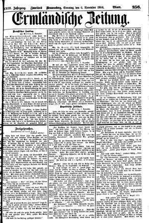 Ermländische Zeitung vom 06.11.1904