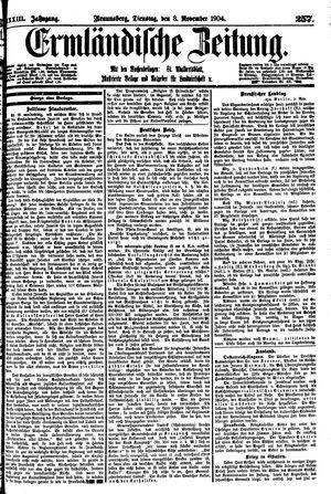 Ermländische Zeitung vom 08.11.1904