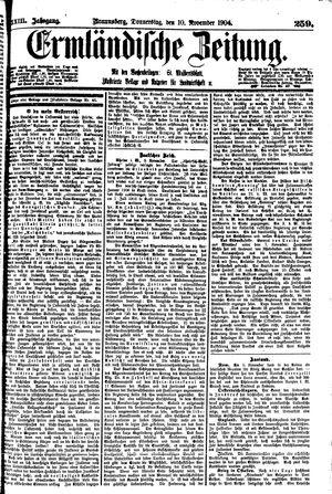 Ermländische Zeitung vom 10.11.1904