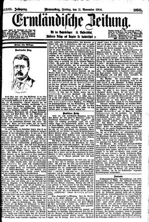 Ermländische Zeitung vom 11.11.1904