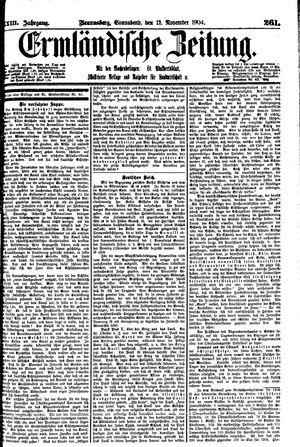 Ermländische Zeitung vom 12.11.1904