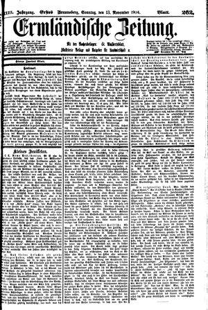 Ermländische Zeitung vom 13.11.1904