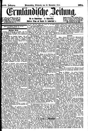 Ermländische Zeitung vom 16.11.1904