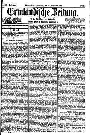 Ermländische Zeitung vom 19.11.1904