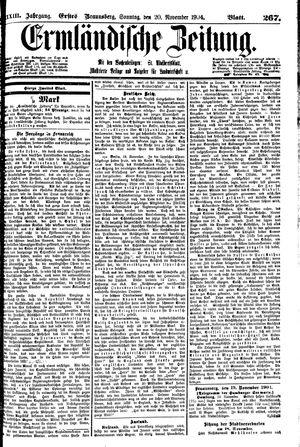 Ermländische Zeitung vom 20.11.1904