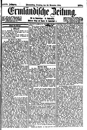 Ermländische Zeitung vom 22.11.1904